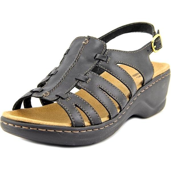 Clarks Narrative Lexi Marigold Q Women W Open-Toe Leather Black Slingback Sandal