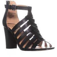 XOXO Baxter Steappy Heel Sandals, Black