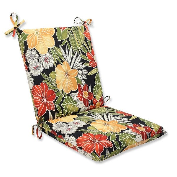 Clemens Noir Outdoor Patio Seat Cushion