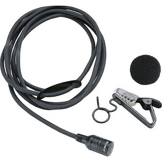 Sony ECM-44BC Omni-Directional Lavalier Condenser Microphone with 4-Pin Connector