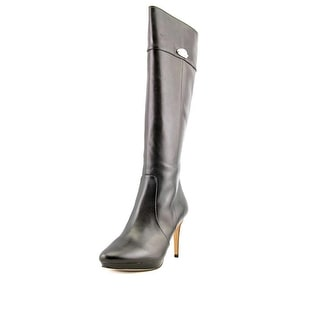 Coach Grace Round Toe Leather Knee High Boot