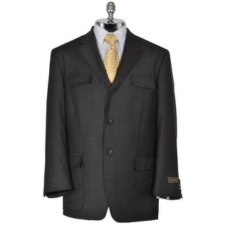 Joseph Abboud Feather 7491/1 Charcoal Wool Sportcoat Large L 3-Buttons