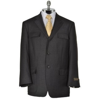 Joseph Abboud Feather Charcoal Wool Sportcoat Large L Blazer 3-Buttons
