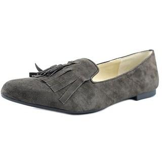 Adrienne Vittadini Aldon Women Round Toe Leather Ballet Flats