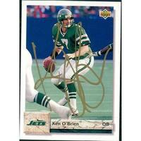 Signed OBrien Ken New York Jets 1992 Upper Deck Football Card autographed