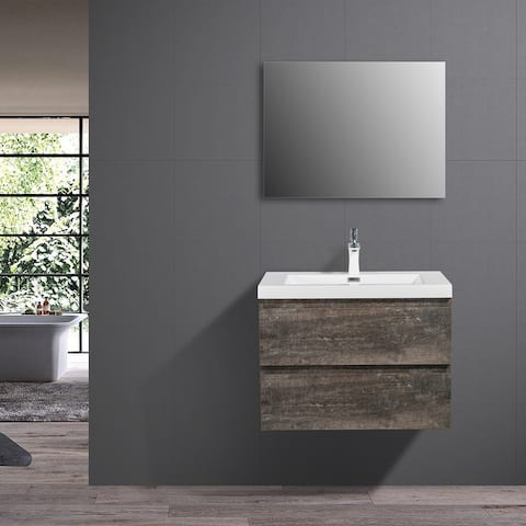 Carbon Loft Harston 30-inch Wall Mount Vanity w/ Reinforced Acrylic Composite Sink