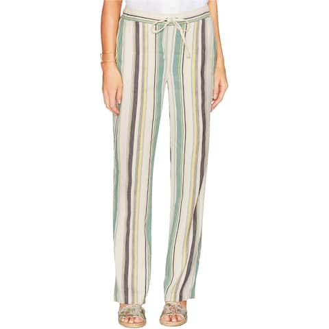 Vince Camuto Womens Striped Casual Lounge Pants, Green, Medium