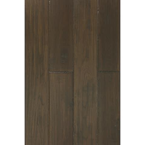 East West Furniture SP-5HH01 Hardwood Flooring - Interlock Engineered Wood Floor Tiles for Indoor, Chestnut Finish,