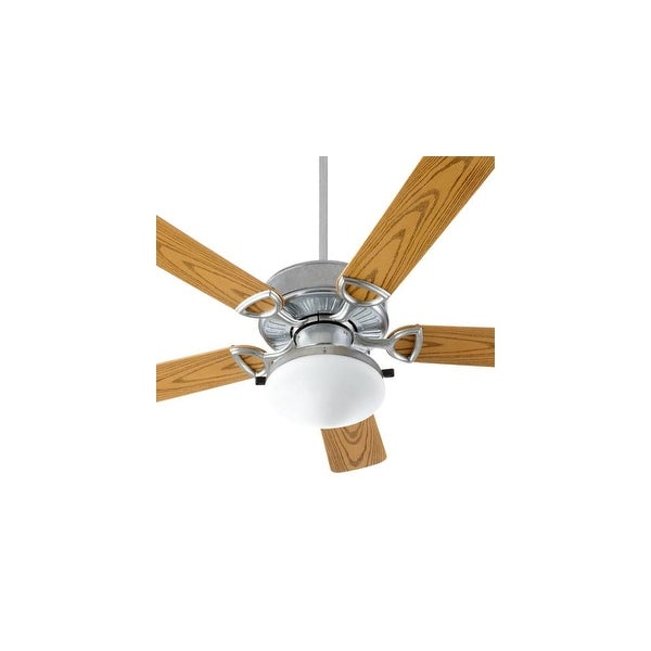 "Quorum International 143525-CFL Estate 5 Blade 52"" Sweep Indoor / Outdoor Ceiling Fan with Light Kit"