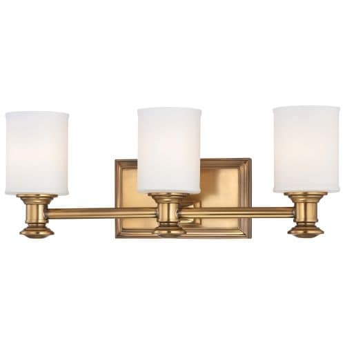 Minka Lavery 5173 3 Light Bathroom Vanity Light with Etched Opal Shade from the Harbour Point Collection
