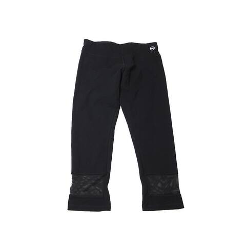 Michael Michael Kors Black Cropped Mesh-Trim Active Leggings XS