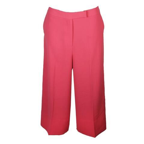 Rachel Rachel Roy Coral Cropped Wide-Leg Pants 10