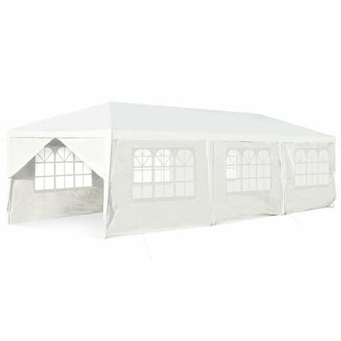 Gymax 10'x30' Outdoor Heavy-duty Gazebo Wedding Canopy Party Pavilion