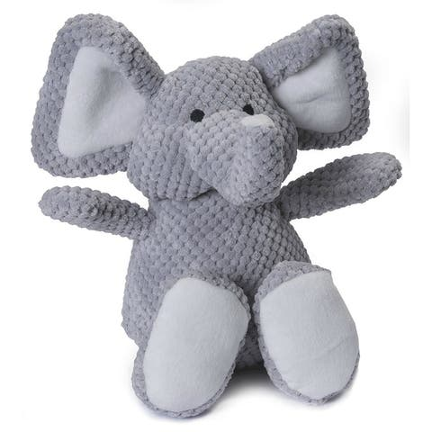 GoDogAC Q770962 Checkers Elephant Dog Toy with Chew Guard Technology, Gray, Large