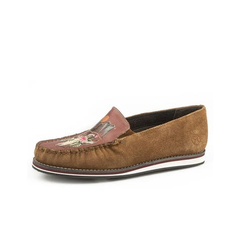 Roper Casual Shoes Womens Filly Steer Moc Tan