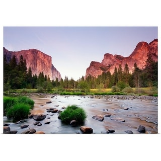 """""""Valley with  sunset"""" Poster Print"""
