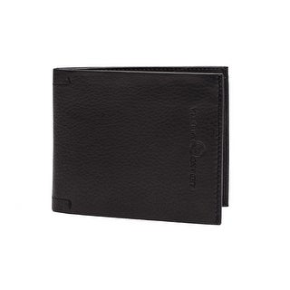 Luciano Barbera Club SASA Pebbled Leather Wallet Black