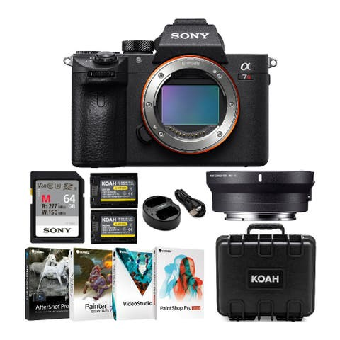 Sony Alpha a7R III Full-Frame Mirrorless Body and Sigma MC11 Adapter