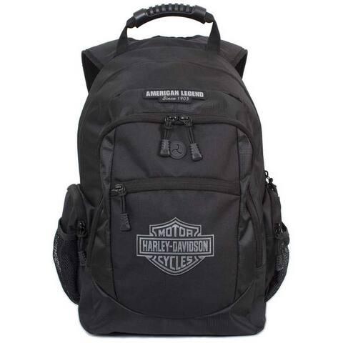 Harley-Davidson Men's Classic Bar & Sheild Backpack, Black BP1932S-BLACK - Large