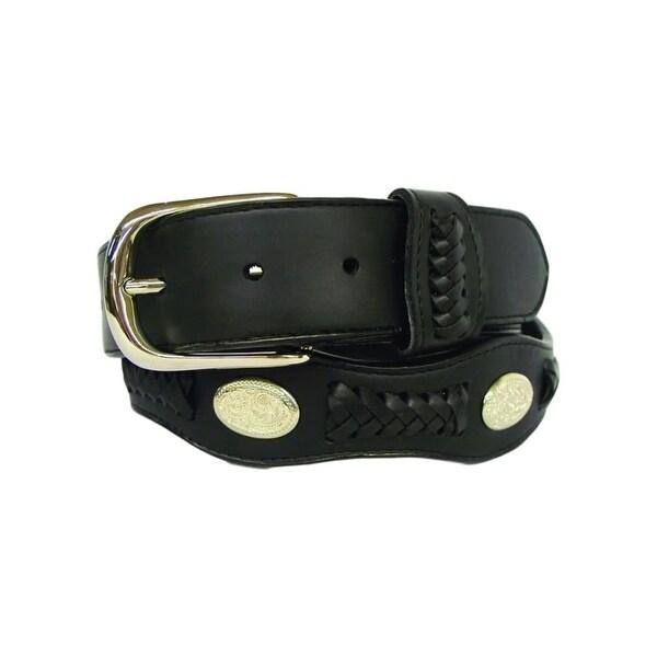 G-Bar-D Western Belt Mens Distressed Leather Silver Black