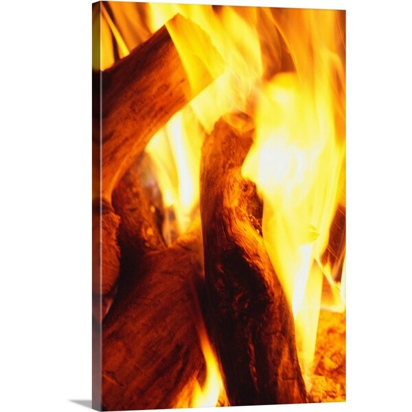 """Fire burning"" Canvas Wall Art"