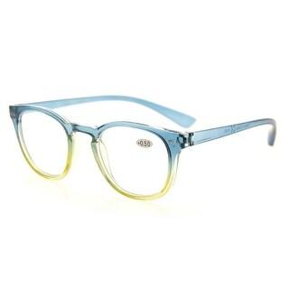 Eyekepper Fashion Readers Womens Reading Glasses (Blue-Yellow Frame, +1.75)