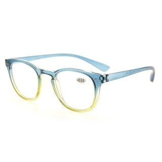 Eyekepper Fashion Readers Womens Reading Glasses (Blue-Yellow Frame, +2.00)