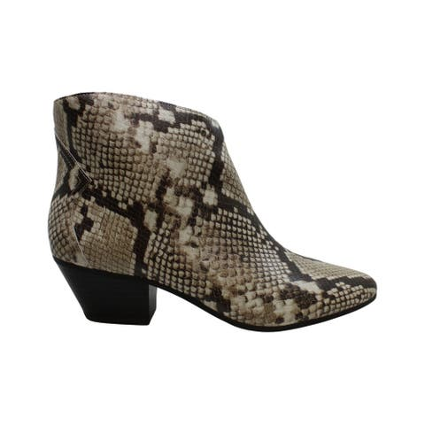 INC International Concepts Women's Shoes Idra Leather Closed Toe Ankle Fashion Boots