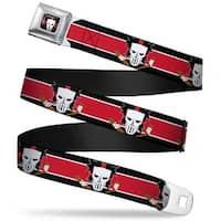 Casey Jones Head Stripe Full Color Black Red White Casey Jones Baseball & Seatbelt Belt