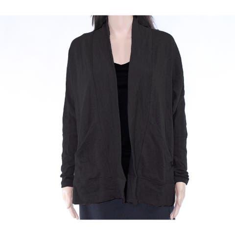 prAna Womens Sweater Gray Size XS Cardigan Angled Front Pockets Stretch