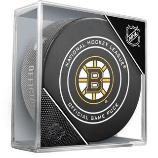 Inglasco NHL Boston Bruins Regular Season 960T Official Game Puck Cube Black - Boston Bruins