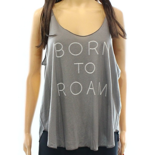 Sun & Shadow NEW Gray Size Large L Junior Born To Roam Tank Cami Top