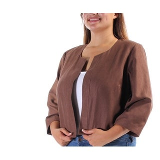 JESSICA HOWARD $119 Womens New 1122 Brown Suit Wear To Work Jacket 16W Plus B+B
