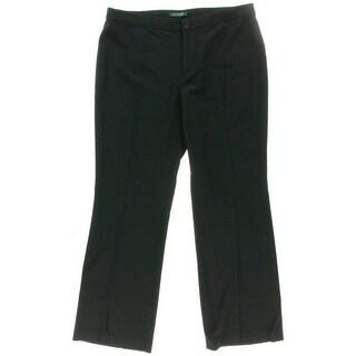 Lauren Ralph Lauren Womens Wool Flat Front Dress Pants