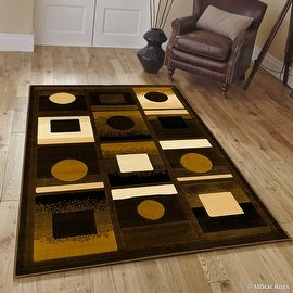 "Allstar Brown Modern Formal Area Rug (5' 2"" x 7' 2"")"