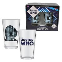 Doctor Who 50th Anniversary First Doctor 16 oz. Glass Set of 2 - Multi