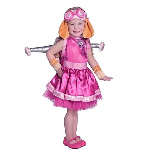 Baby Girls Pink PAW Patrol Skye Wing Pack Dress Up Halloween Costume