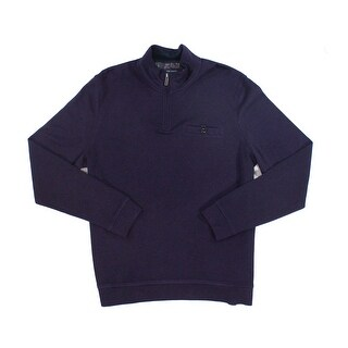 Ted Baker NEW Solid Purple Mens Size 2XL 1/2 Zip Longsleeve Sweater