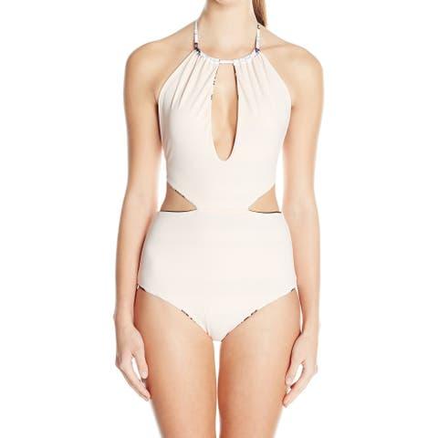 Mara Hoffman Womens Swimwear Pink Size XS Reversible One-Piece Cutout