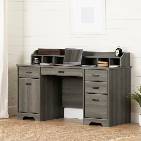 South Shore Versa Computer Office Desk with Power Bar