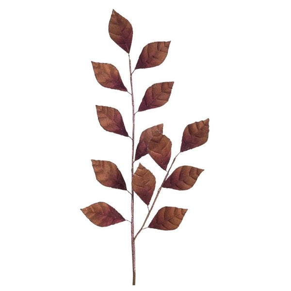 """Club Pack of 24 Exquisite Artificial Shimmering Brown Leaf Spray 36"""""""