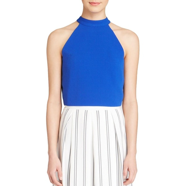 JOA Womens Crop Top Open Back Halter Neck