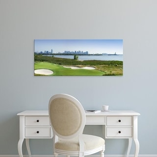 Easy Art Prints Panoramic Images's 'Liberty National Golf Club, Statue Of Liberty, Jersey City, New Jersey' Canvas Art