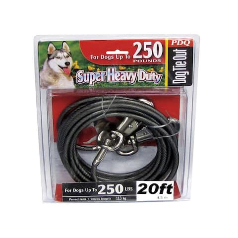 PDQ Q6820-000-99 Super Beast Tie Out Cable, 20'