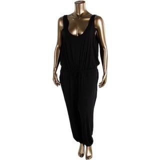 BB Dakota Womens Plus Sleeveless Solid Jumpsuit - 2X