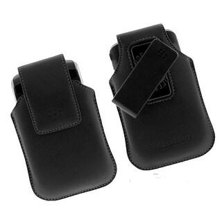 OEM BlackBerry Leather Swivel Case for 9930 9760 9530 HDW-19819-001 (Black) (Bul