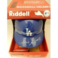 Signed Gagne Eric Los Angeles Dodgers Riddell Los Angeles Dodgers Mini Helmet Start of signature li