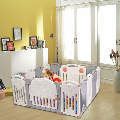 Baby Folding playpen Kids Activity Centre Safety Play Yard