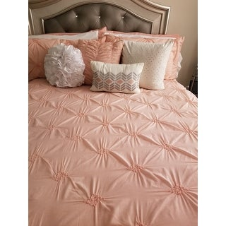 Copper Grove Clanninick Pink Embroidered 7-piece Comforter Set With Pintuck Detailing