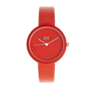 Crayo Blade Leatherette Strap Watch - Red